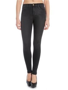 Maria high rise skinny jeans in black diamond