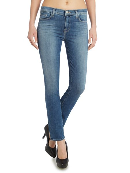 J Brand 811 mid-rise skinny jeans in connected