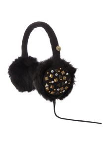 Studded audio earmuff