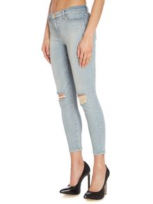 835 mid-rise capri skinny jeans in dropout