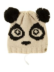 Panda knit audio beanie