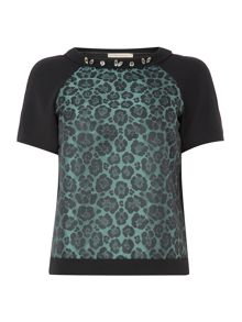 Leo Embelished Neck Top