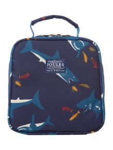 shark print lunch bag