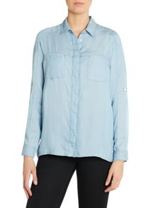 7 For All Mankind The weekend long sleeve denim shirt