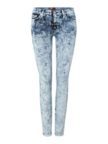 7 For All Mankind The skinny superior sateen jean in marble ice