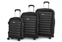 Panel black 4 wheel hard medium suitcase