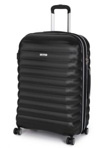 Panel black 4 wheel hard large suitcase