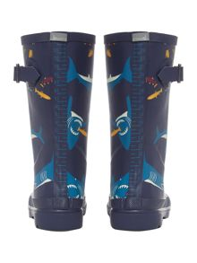 boys shark print welly
