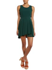 Round neck fit and flare dress