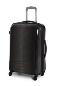 Black 4 wheel hard medium suitcase