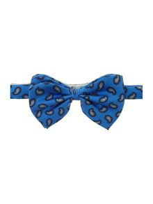 New & Lingwood winchester paisley print bow tie