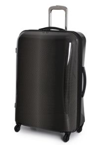 Black 4 wheel hard large suitcase