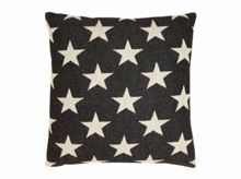 Tori Murphy Antares Star cushion linen on black 40x40