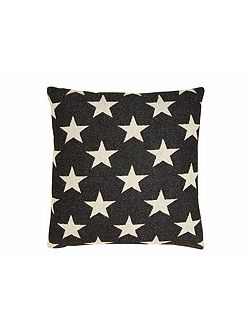 Antares Star cushion linen on black 40x40