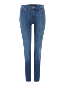 7 For All Mankind The high waist straight jeans in american indigo