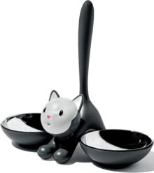 Tigrito  Cat Bowl, Black