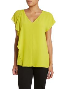 V neck asymmetric top