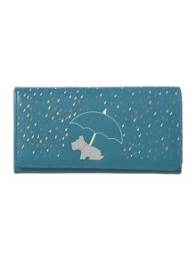 Right as rain blue large flap over purse