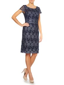 All over lurex lace dress