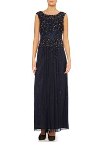 Sleeveless graduated sequin gown