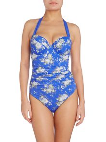 Dickins & Jones Floral halter cup sized swimsuit