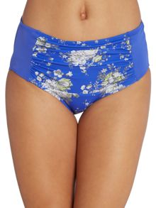 Dickins & Jones Floral print gathered front tummy control brief