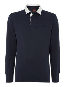 Long sleeve rugby polo shirt