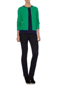 Bridgit square stitch cardigan