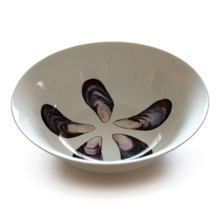 Jersey Pottery Serving Bowl 250mm - Mussel
