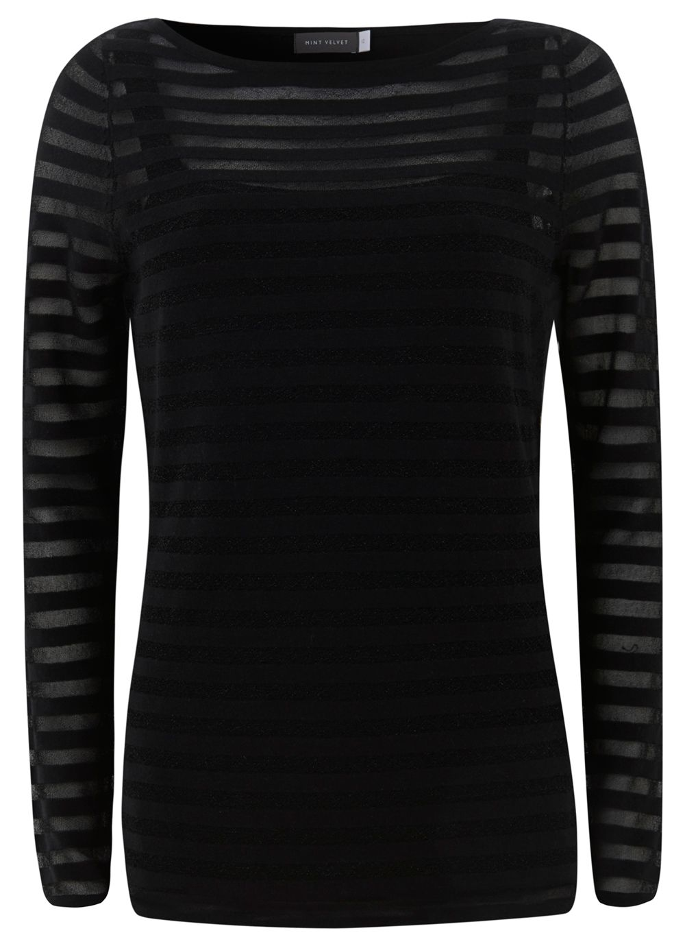 Black Sheer Stripe Knit
