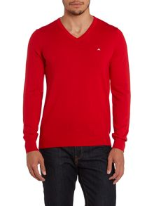 V neck merino jumper
