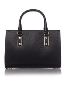 Missi black small square tote bag