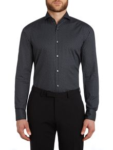 Hugo Boss Dwayne Slim Fit Geo Contrast Shirt
