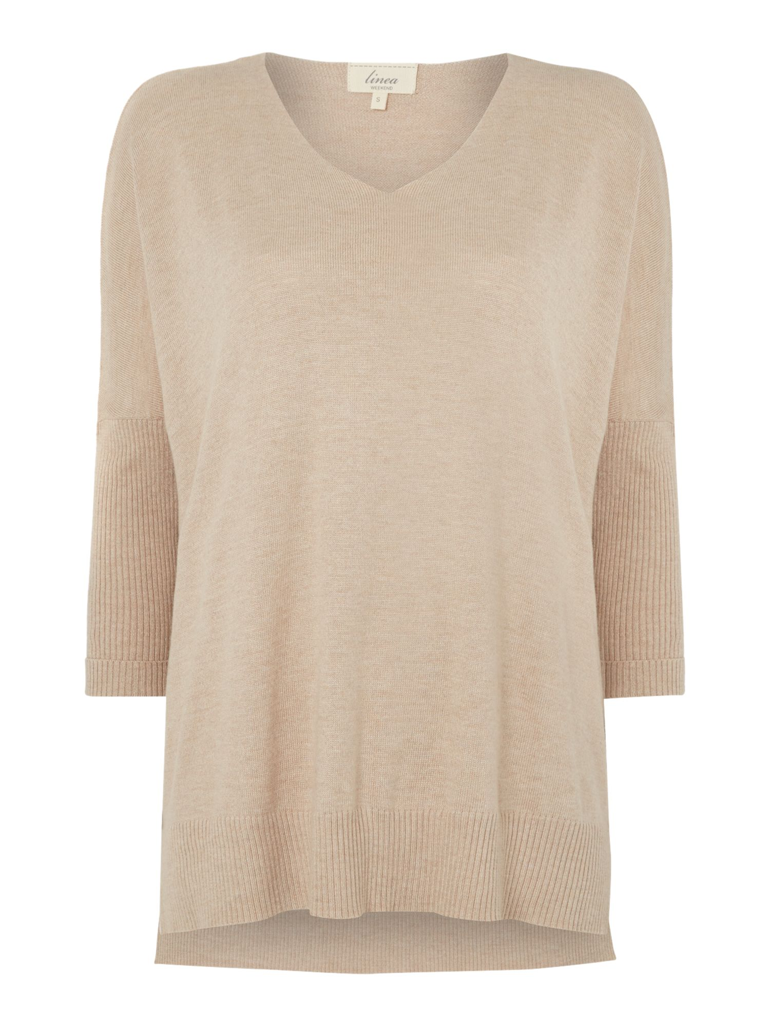 V-neck solid jumper