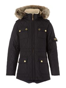 Girls Parka jacket with detachable fur and hood
