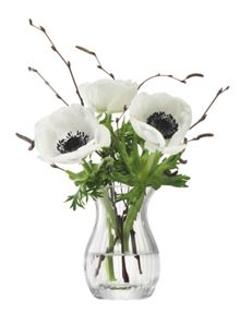 LSA Flower Texture Mini Posy Vase H9.5 Fine Optic