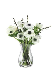 LSA Flower Texture Posy Vase H17.5 Fine Optic
