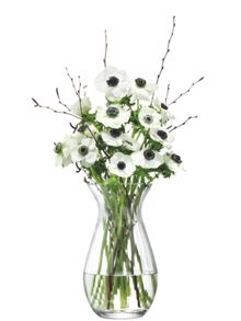 LSA Flower Texture Grand Posy Vase H32 Fine Optic