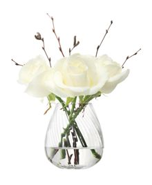 LSA Flower Texture Mini Table Vase H9.5cm Twist Optic