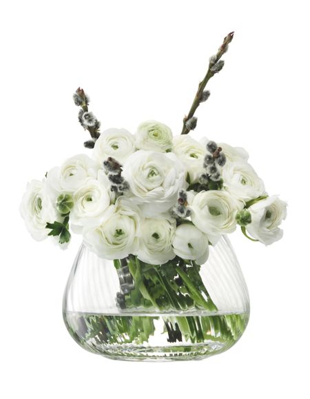 LSA Flower Texture Table Arrangement Vase Twist Optic