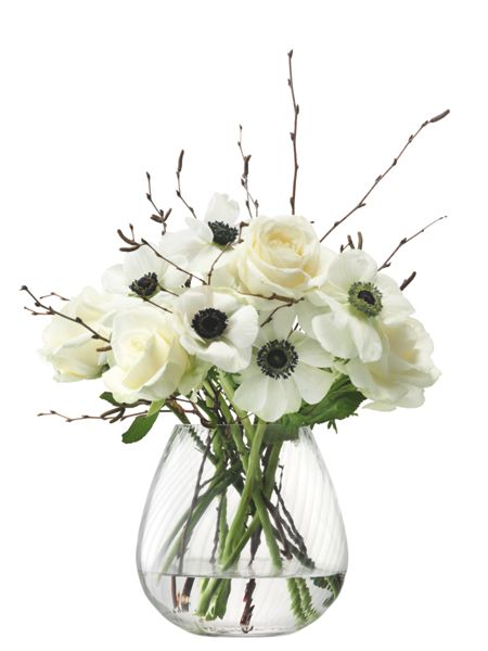 LSA Flower Texture Table Bouquet Vase Twist Optic
