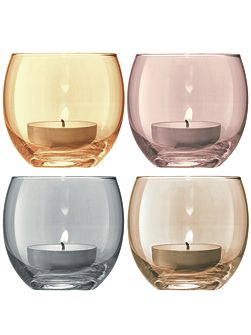 Polka Tealight holders set of 4 6.5cm -