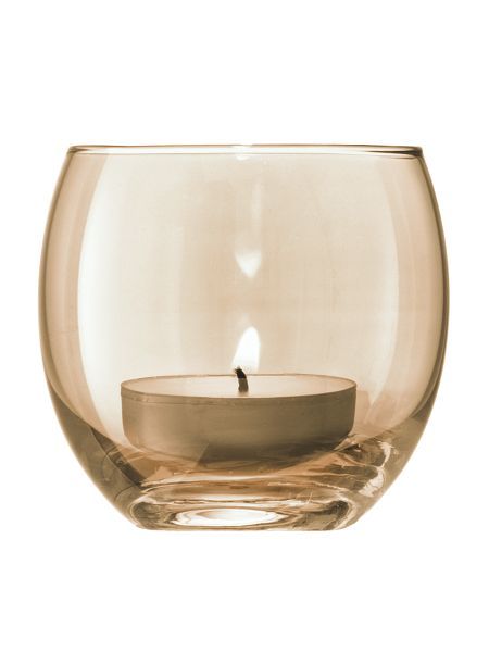 LSA Polka Tealight holders set of 4 6.5cm - Metallics