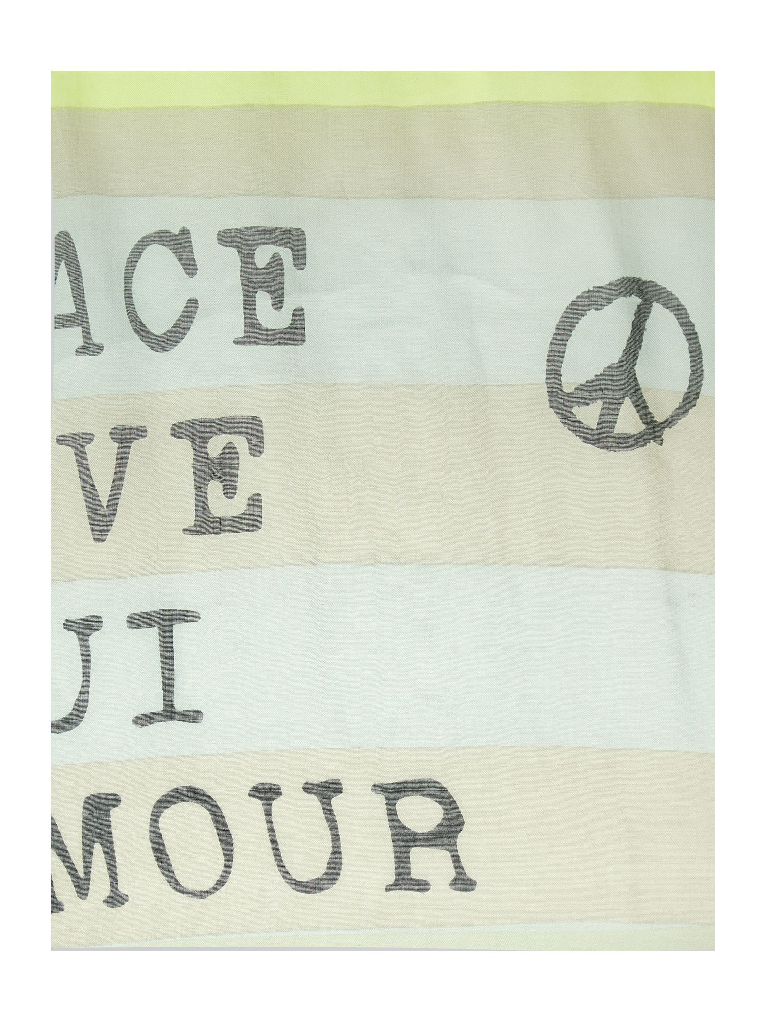 Slogan mix scarf