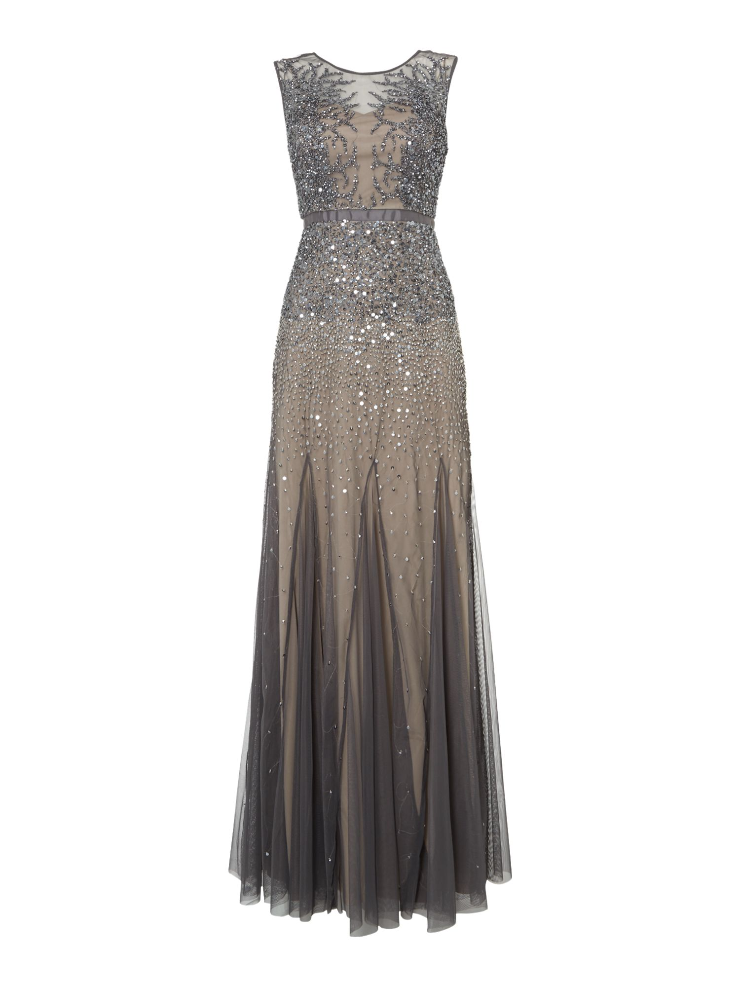 Adrianna Papell Sleeping beauty dress $290.00 AT vintagedancer.com