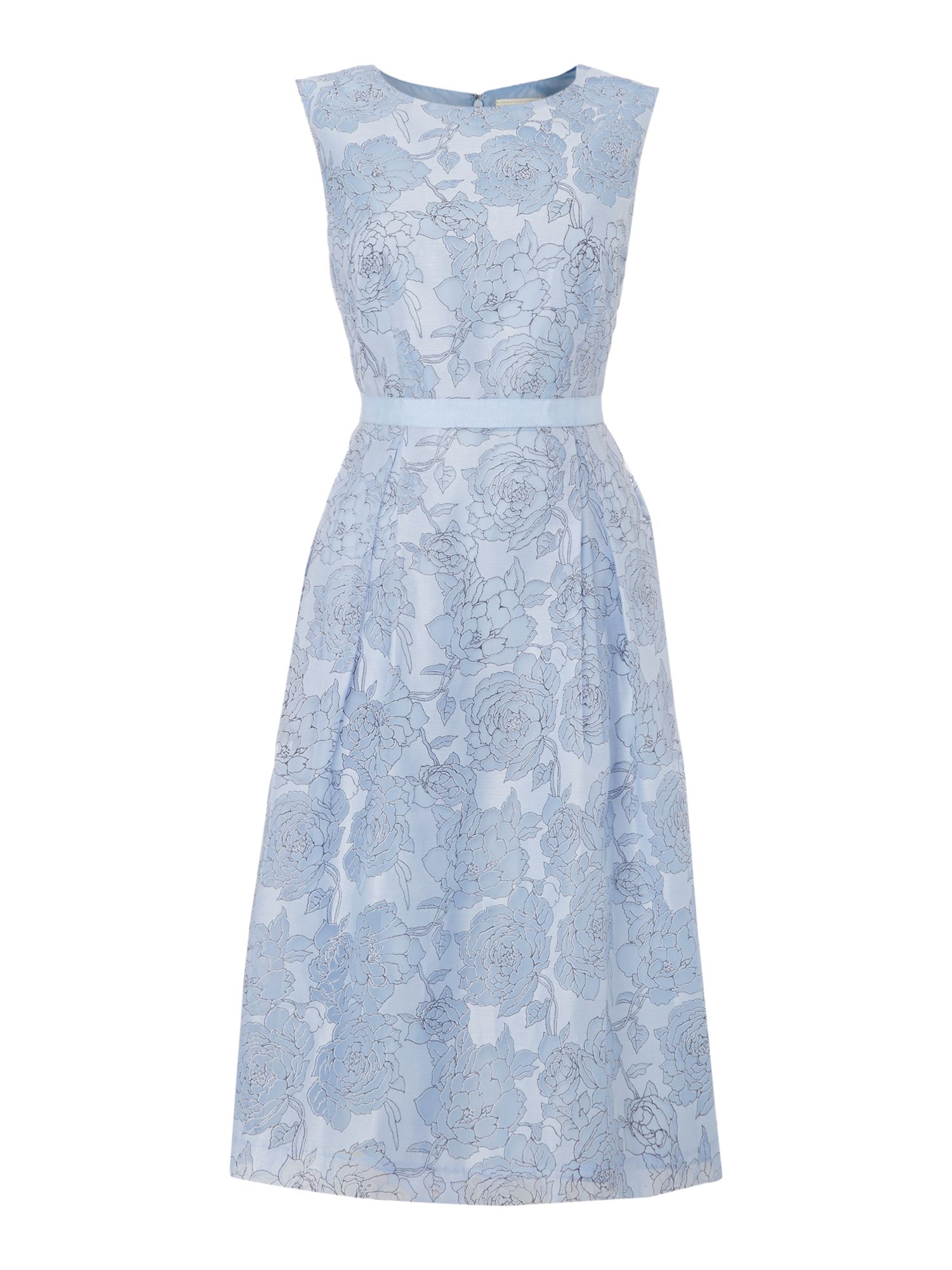 Linea organza floral dress blue for Housse of fraser