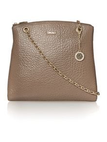 French grain tan large chain cross body bag