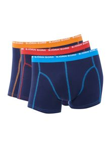 3 pack contrast stitch trunk