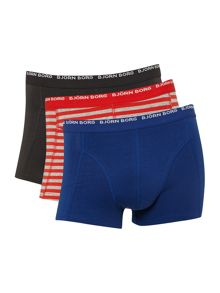 3 pack stripe and contrast underwear trunk