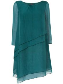 Aveline layered silk tunic